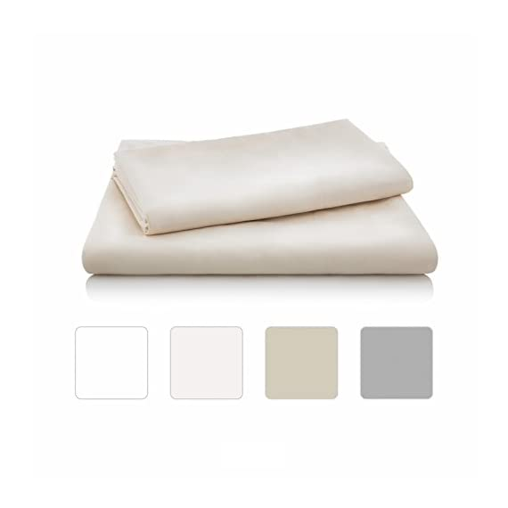 Linenspa Brushed Microfiber Ultra Soft Bed Sheet Set - Wrinkle Resistant - Twin Size - Ivory - Soft brushed finish for superior comfort Wrinkle, stain and shrink resistant Fitted sheet fits mattresses up to 14 inches deep - sheet-sets, bedroom-sheets-comforters, bedroom - 31CT1ePfu8L. SS570  -