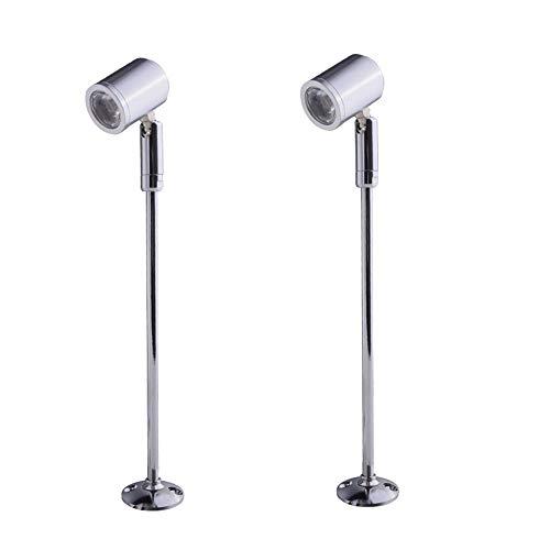 INHDBOX 2-delige 3 W insteekbare vitrinelamp mini spot verlichting led mini spotlight lamp 21 cm warm wit led op top met…