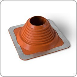 Flue Pipe roof Flashing, high Temperature, 76mm to 152mm (3' to 6') Diameter, red, 76mm to 152mm (3 to 6) Diameter Dektite