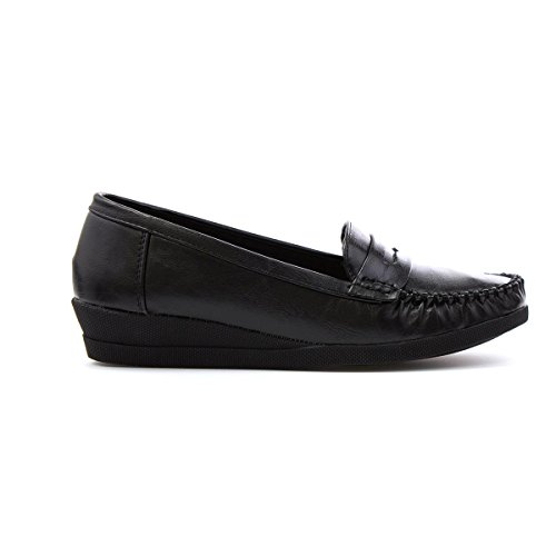 Womens Softlites Black Shoe Moccasin Black Loafer BwwfqZd6