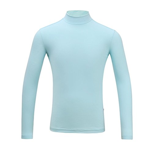 Kayiyasu インナーシャツ キッズ ゴルフウェア ジュニア ゴルフシャツ 女の子 UVカット 薄手 夏物用 薄物 長袖 下着 日焼け止め 021-xsty-yf-137(XL(150cm) グレー)