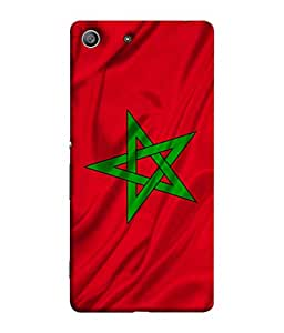 ColorKing Football Morocco 01 Red shell case cover for Sony Xperia Z3