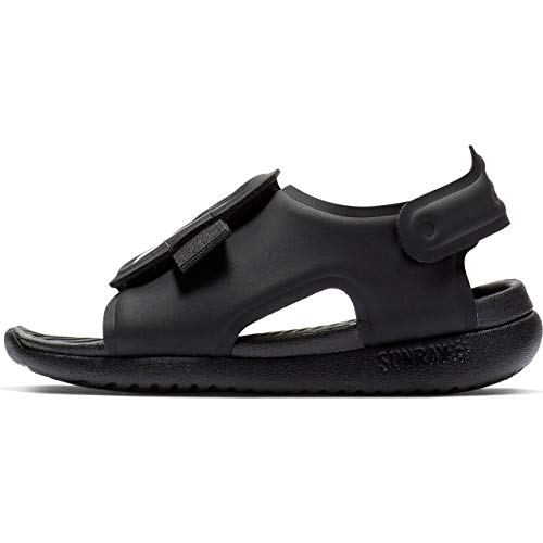 Nike Boy's Sunray Adjust 5 Toddler Sandal, Black/White, Size 8 M US Toddler