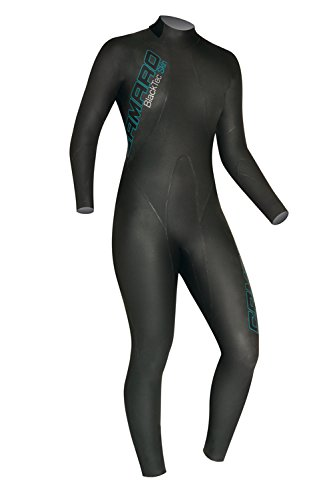 Camaro Women's Blacktip Skin Overall Wetsuits, Black, Medium/40