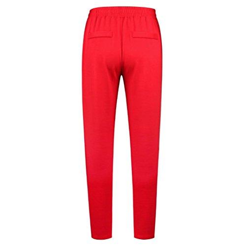 Taille ITISME Unique Femme Rouge Ecru Jeans Empire Taille Jeanshosen Gris HrxrwBE