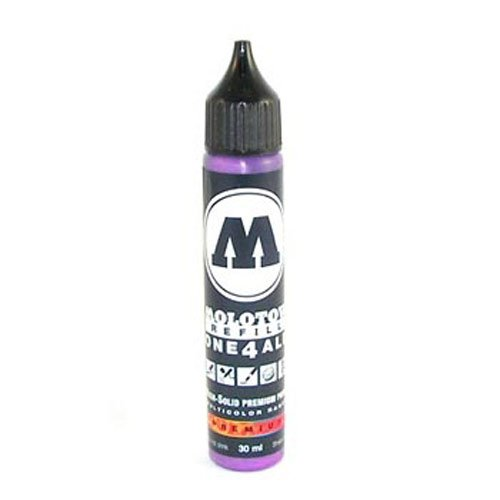 Molotow ONE4ALL Acrylic Paint Refill, For Molotow ONE4ALL Paint Marker, Currant, 30ml Bottle, 1 Each (693.042)
