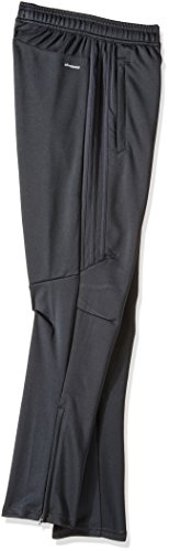 adidas Youth Soccer Tiro 17 Pants, Small - Dark Grey/White by adidas (Image #2)