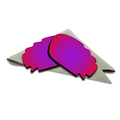 Purple Red Mirrored Polarized Lenses Replacement for Oakley Jawbone Vented/Racing Jacket Sunglasses ()