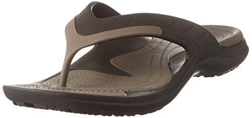 crocs Unisex Modi Sport Flip-Flop,  Espresso/Walnut, 11 M (D) US Men / 13 M (B) US Women