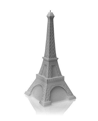 Candellana Candles Candellana- Eiffel Tower Candle-Gray, Large,