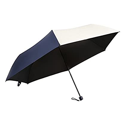 Paraguas plegable automatico Mujer niño Hombre an- Protección Ultravioleta Plegable del Paraguas de Sol Ultra