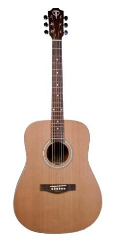 Teton Dreadnaught Acoustic Guitar Solid Cedar Top, Mahogany Back & Sides (Cedar Top Acoustic Guitar)