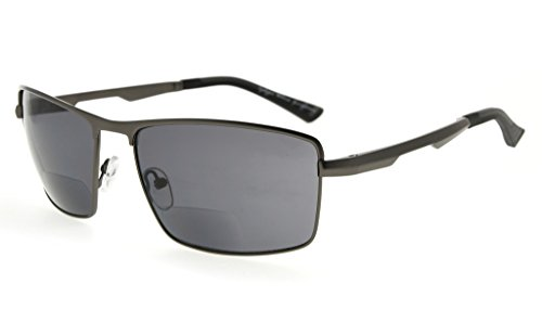 lentes de hombres 1 Eyekepper al lectores para sol bifocales de Gafas libre Gunmetal lectura aire Negro 75 6nqXq7Iw