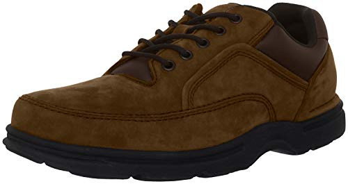 Rockport Men's Eureka Walking Shoe Oxford, Chocolate, 10.5 XW US