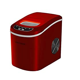 NAT.QUALITY RV-130R Portable Ice Maker Red