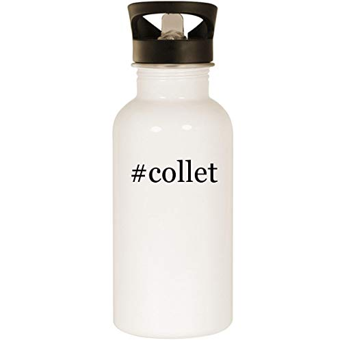 #collet - Stainless Steel Hashtag 20oz Road Ready Water Bottle, White ()