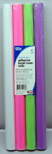 Assorted Colors Adhesive Book Cover Rolls