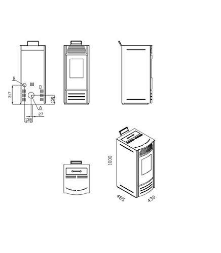 INTERSTOVES Blanc option WIFI Po/êle /à granules MARINA 10KW