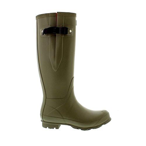Womens Norris Field Boot Side Adjustable - Moor Green/Electic Orange