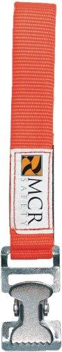 Glove Clip - MCR Safety GCO Nickel Gloves Utility Clip with Nylon Strap, Orange