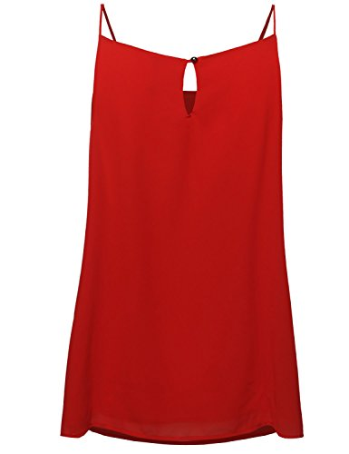 Plus Size High Neck Pleated Top Red Size 1XL