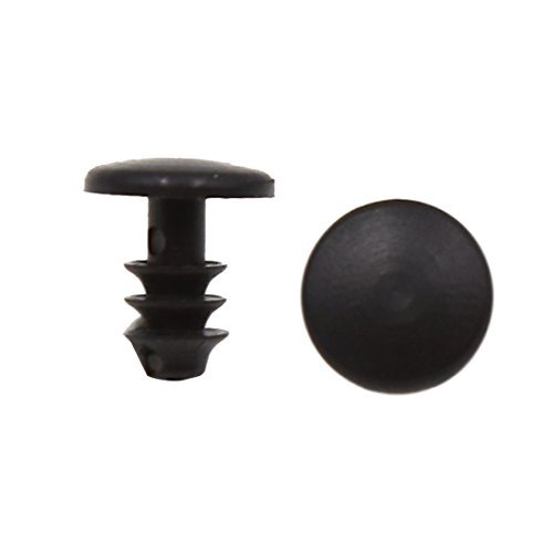 Amazon.com: eDealMax 20 piezas Negro Parachoques auto Fender plástico Remaches Sujetadores Clips DE 5 mm x 9 mm x 10 mm: Automotive