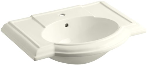 KOHLER K-2295-1-96 Devonshire Bathroom Sink Basin with Single-Hole Faucet Drilling, Biscuit