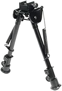 """UTG Tactical OP Bipod, Rubber Feet, Center Height 8.3""""-12.7"""""""