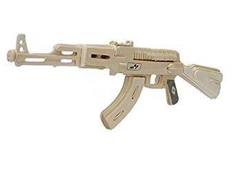 STONG 3D AK-47 Gun Jigsaw Woodcraft DIY Assembly Handcraft