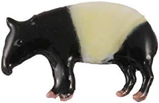 Creative Pewter Designs Tapir Mammal Hand Painted Lapel Pin Brooch Jewelry MP154