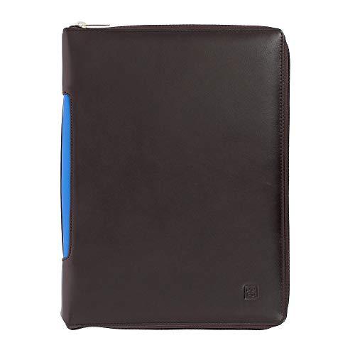 con Cartella Cerniera con Zip Nappa Alloggio DUDU Organizer Woods A4 Portablocco Portadocumenti a Pelle Tablet in tq1nFw