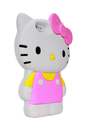 Hello Kitty Silicone Case for iPhone 5/5S - Retail Packaging - - Case 5s Kitty Hello