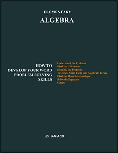 Book ElementaryALGEBRA: Howto Develop Your Word Problem Solving Skills
