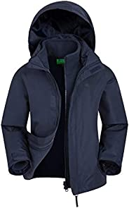 Mountain Warehouse Fell Kids 3 in 1 Jacket - Packaway Hood, Triclimate Coat