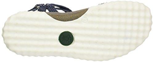Panama Jack Caribel Snake, Sandalias con Cuña para Mujer Azul (Navy)