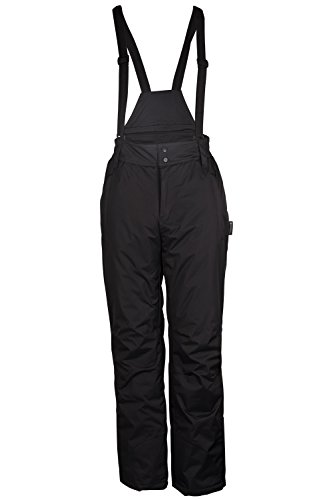 Mountain Warehouse Dusk Men's Ski Pants - Water Repellent, Detachable Suspenders with Two Front Zipped Pockets - Withstand the Wear & Tear from Snowboarding & Skiing Black Large