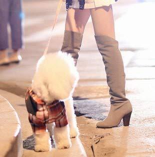 Con Shoe Tacón De Alto Grueso Altas Botas Mujer Casual Phy Calzado 黑色 wXOdqHBB