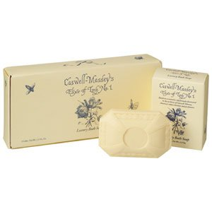 Caswell-Massey Elixir of Love No. 1 Scented Luxury Bath Soap Bar Gift Set – 3 Bars of Soap