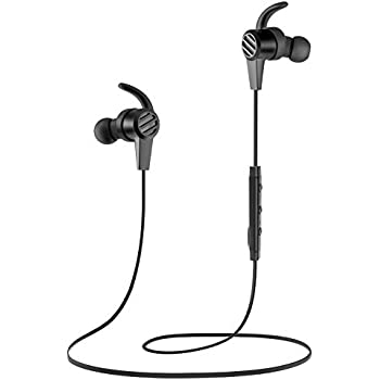 SoundPEATS Bluetooth Headphones in Ear Wireless Earbuds 4.1 Magnetic Sweatproof Stereo Bluetooth Earphones for Sports with Mic (Black)