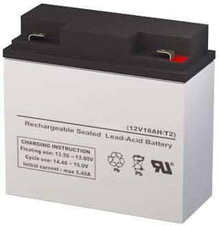 PS-12180-F2 12 Volt 18 AmpH SLA Replacement Battery with F2 Terminal