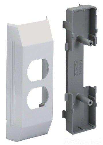 Panduit T45HEBIW Duplex Electrical Bracket and Box, Off White