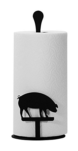 (Iron Counter Top Pig Kitchen Paper Towel Holder - Heavy Duty Metal Paper Towel Dispenser, Kitchen Towel Roll Holder)