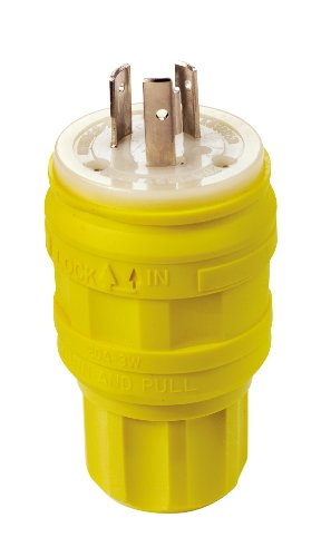 Leviton 26W47 20 Amp, 125 Volt, Locking Plug, Industrial ...
