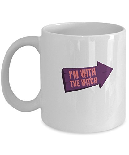 I'm With The Witch Halloween Couples Costume Mug ()