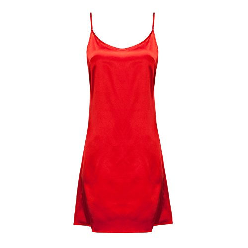 OThread & Co. Women's Classic Satin Nightgown Chemise Slip Sleepwear (Size-Adjusted) (Large, -