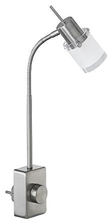Plug-in One Light Flex Lamp in Steel: Amazon.co.uk: Lighting