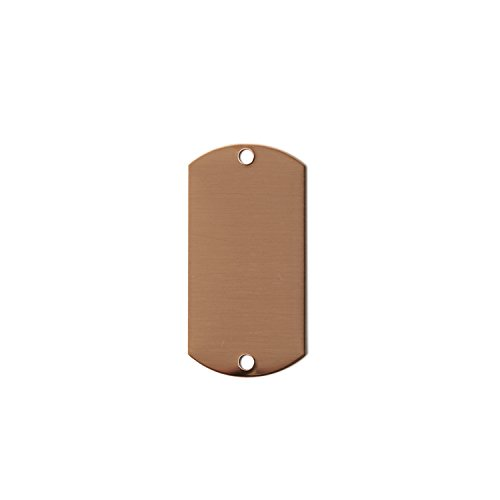RMP Stamping Blanks, 1 Inch x 2 Inch Dog Tag with Two Holes, 16 oz. Copper 0.021