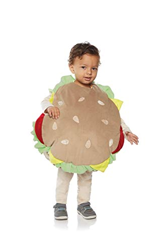 Underwraps Kid's Toddler's Plush Hamburger Belly Babies Costume Childrens Costume, Multi, -