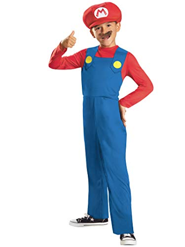 Nintendo Super Mario Brothers Mario Classic Boys Costume, Medium/7-8 ()