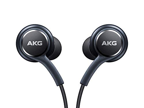 OEM Stereo Headphones with in-line Remote & Microphone for Samsung Galaxy S8, S8 Plus S9, S9 Plus Note 8 Note 9 [Grey] Bulk Packaging ()